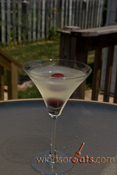 The finished product: a Limoncello Martini