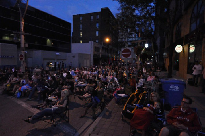 Hundreds showed up to watch The Princess Bride and partake in the many family activities during the WindsorEats Film Night