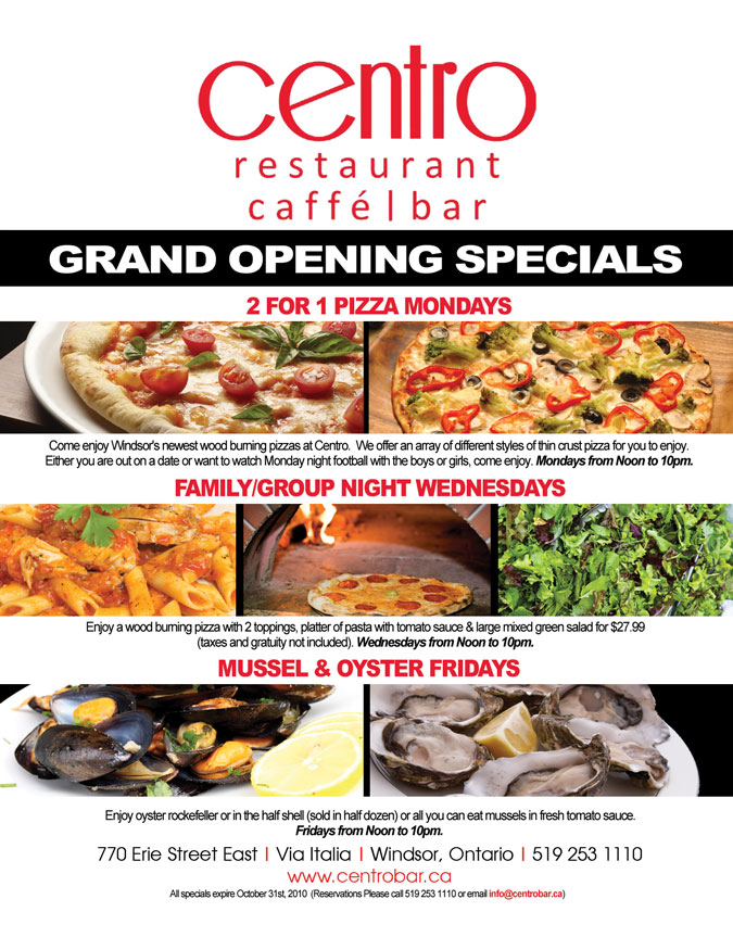 Centro is offering specials throughout October