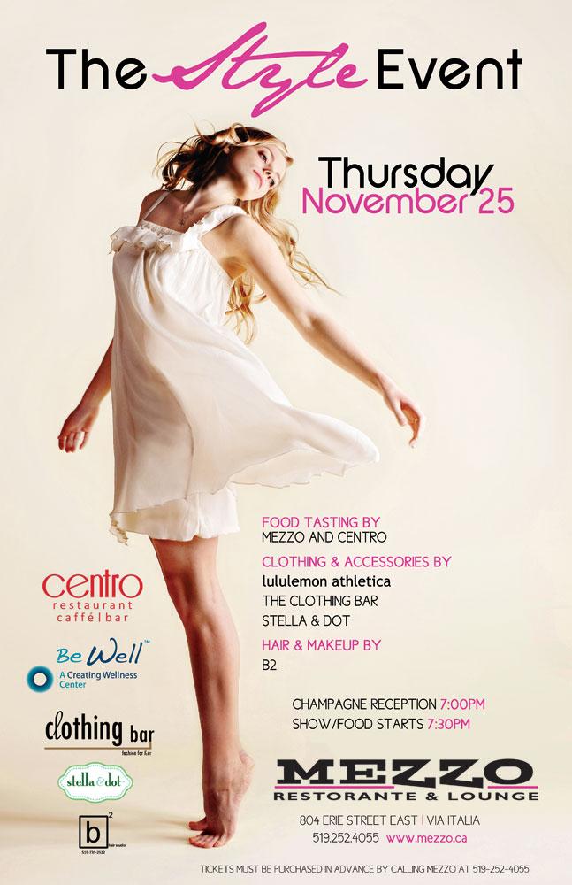 The Style Event at Mezzo Ristorante & Lounge on November 25, 2010