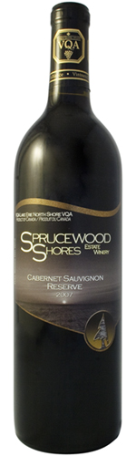 Sprucewood Shores Estate Winery, 2007 Cabernet Sauvignon Reserve
