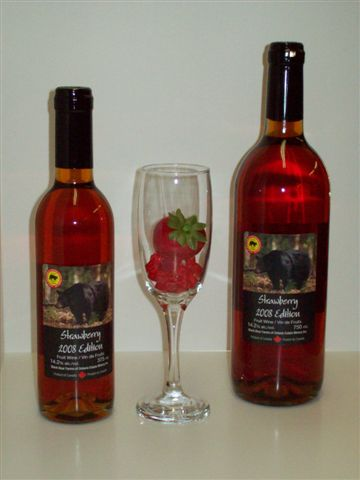 Black Bear Farm & Estate Winery's 2008 Edition Strawberry Wine