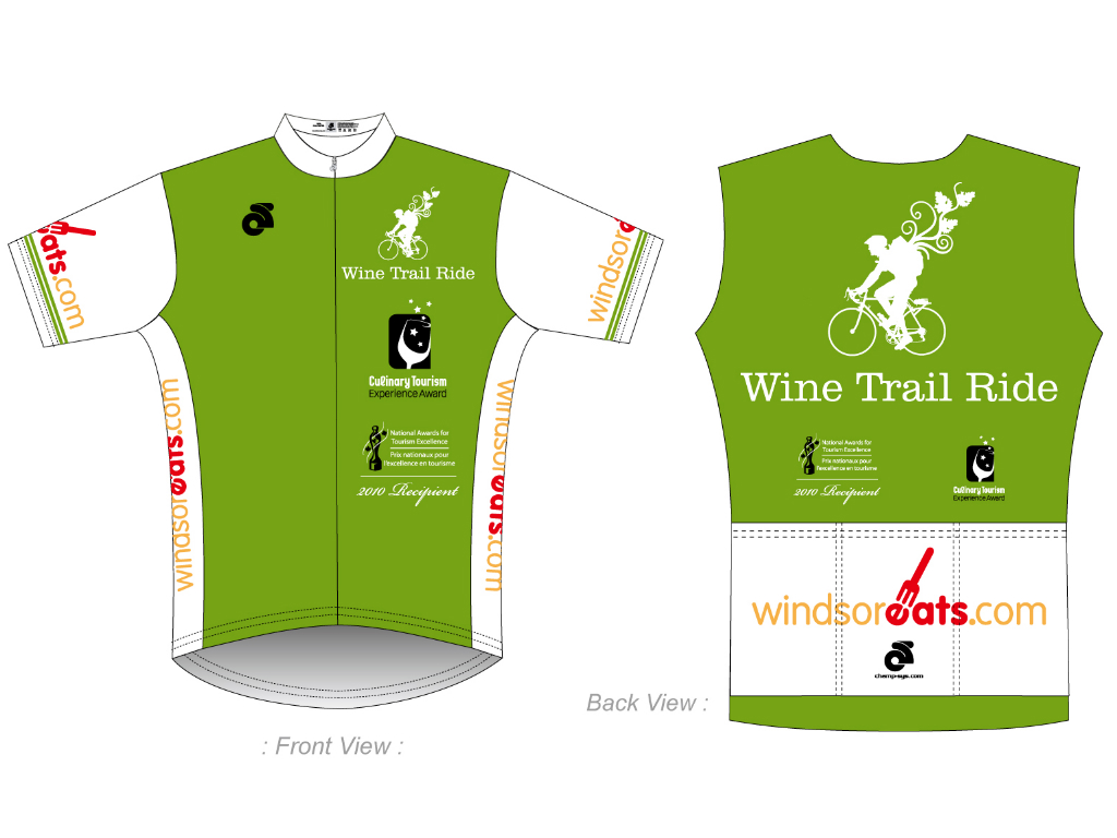 Here is a look at what the jersey for our Wine Trail Ride guides will look like