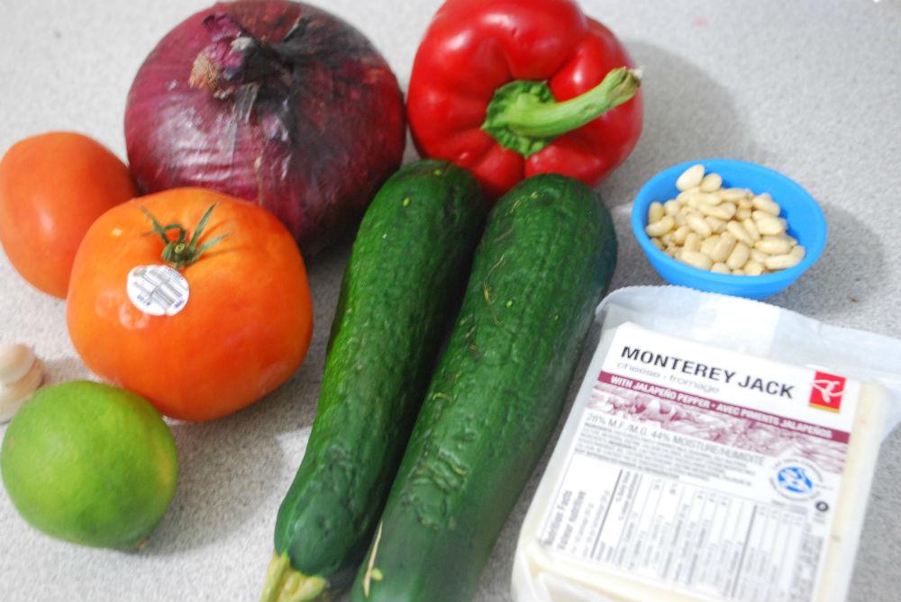 Ingredients for the Zucchini Quesadillas recipe
