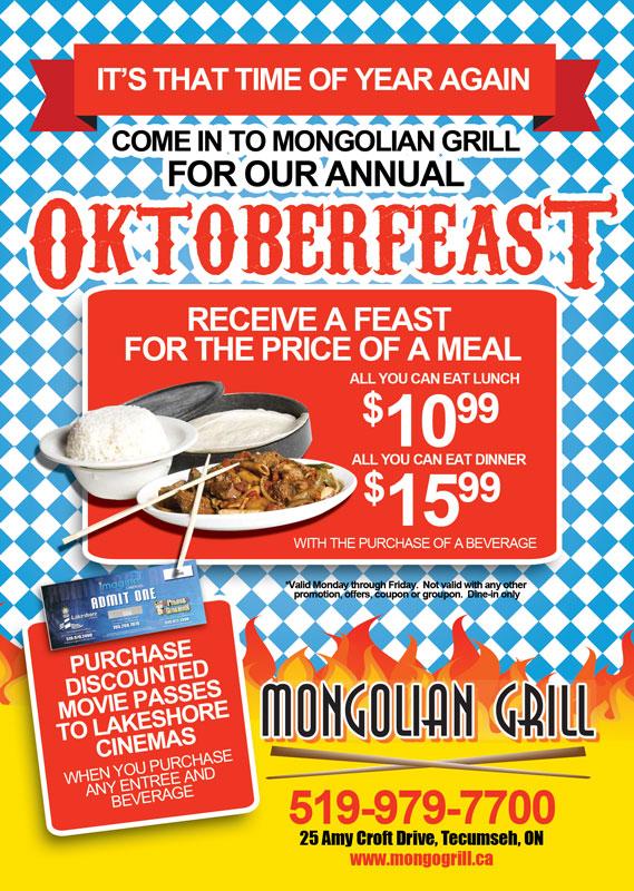 Mongolian Grill's 2011 Oktoberfeast