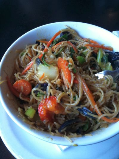 Stir Fry with vermicelli noodles at Chanoso's Restaurant
