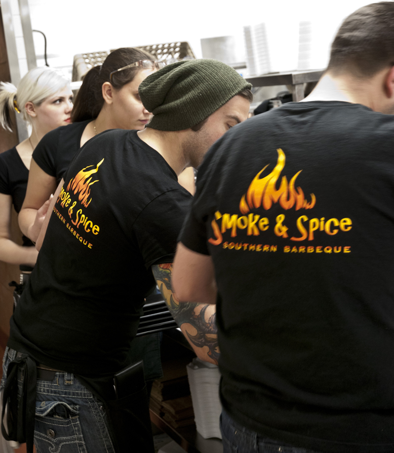 Staff at Smoke & Spice's new loaction in Windsor, Ontario's east end