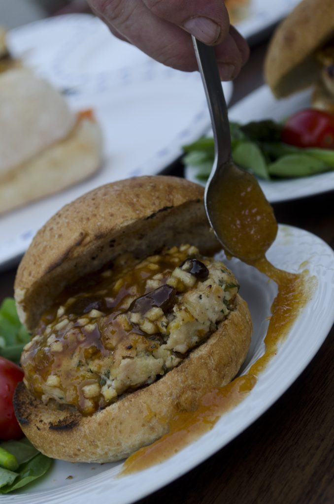 Jerry Stasiuk and his Jer-Bear's Mar-a-Lago Turkey Burger in CBC Windsor's 2012 search for Windsor's best barbecued burger