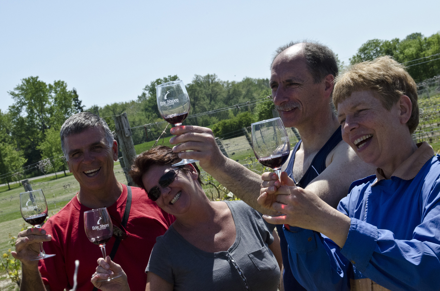 Participants enjoying one of the award winning Wine Trail Ride cycling tours
