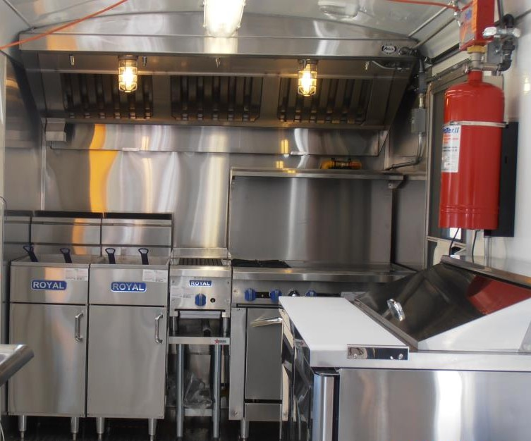 Inside the Road Chef, the food truck is just as clean and functional as a traditional restaurant kitchen