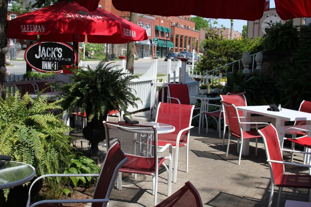 Jack's Gastopub patio in Kingsville, Ontario