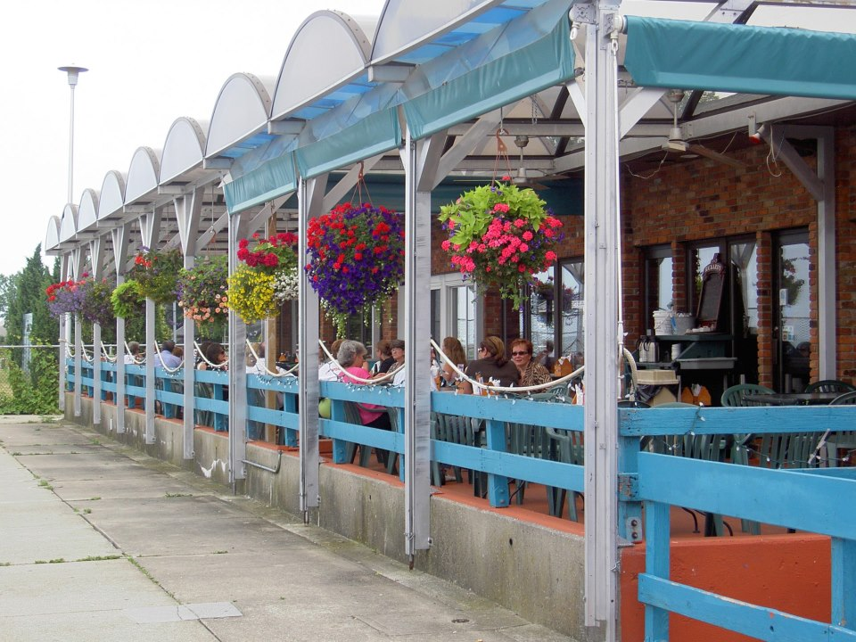 Lilly Kazzilly's riverfront patio in Windsor, Ontario