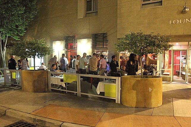 Mezzo Ristorante & Lounge patio in Windsor, Ontario