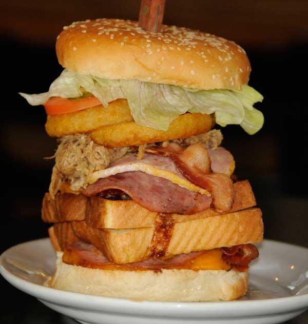 Fat Schmoe burger from Joe Schmoe's