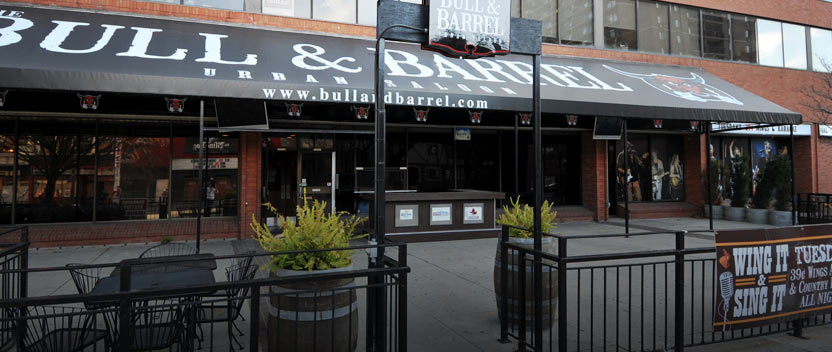 Enjoy Windsor's largest patio at the Bull N Barrel in the downtown core