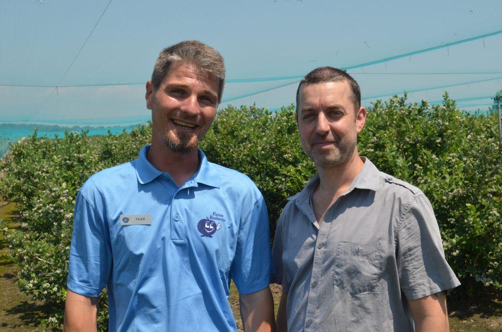 Tyler Klassen of Klassen Blueberries and Jay Souilliere of Motor Burger
