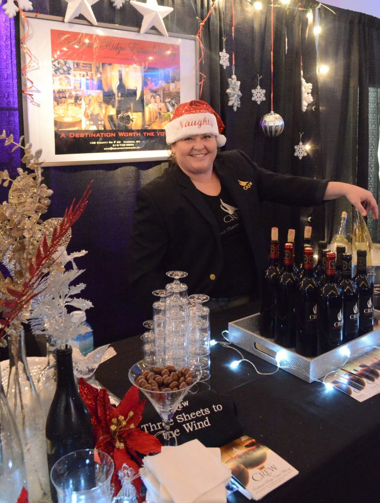 Michelle Plunkett of Colchester Ridge Estate Winery gets in the holiday spirit