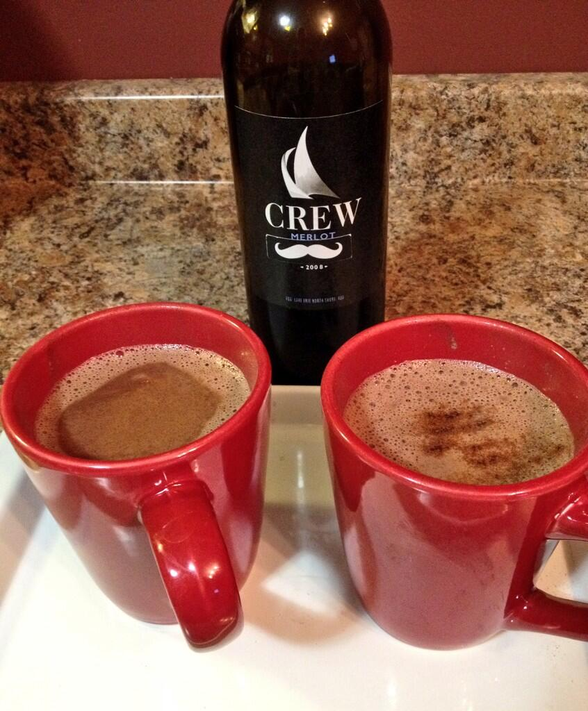 Merlot Hot Chocolate recipe from Colchester Ridge Estate Winery