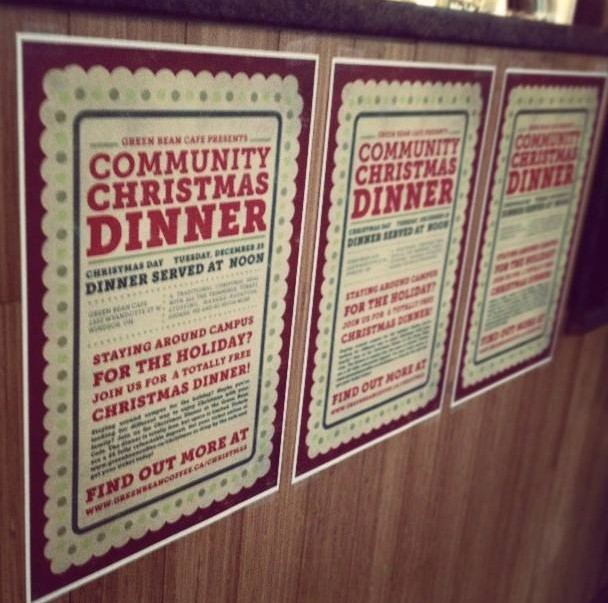 Green Bean Cafe is hosting a Community Christmas Dinner