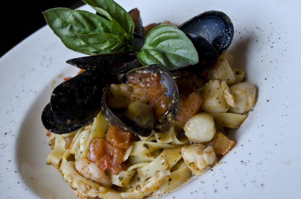 Seafood pasta from Mezzo Ristorante