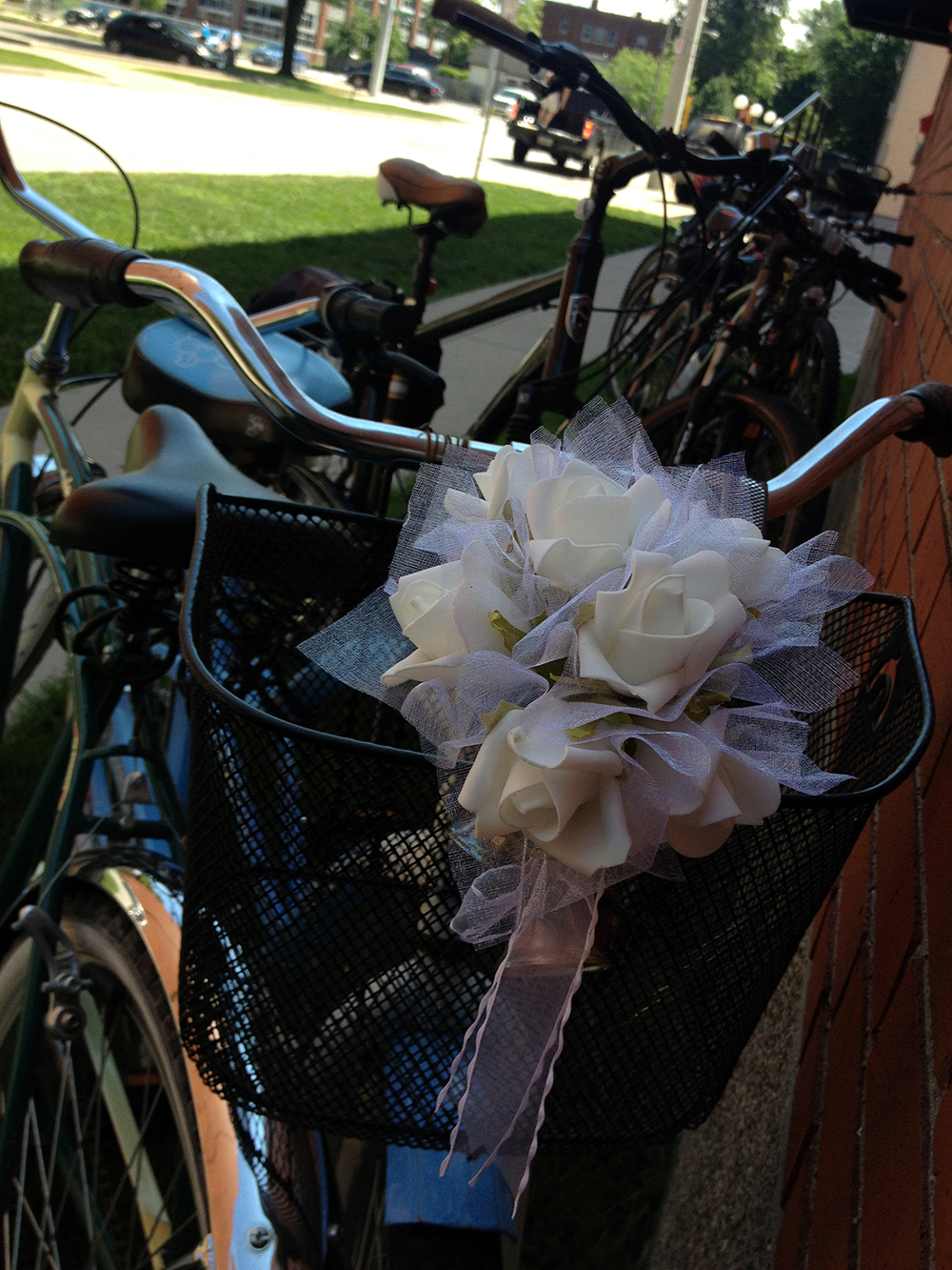 A decked out bike for one of the bachelorettes on our Bikes & Beers cycling tour