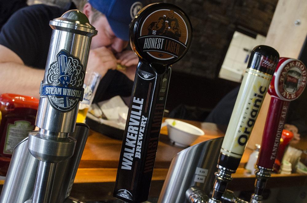 Beer taps at Mamo Burger Bar