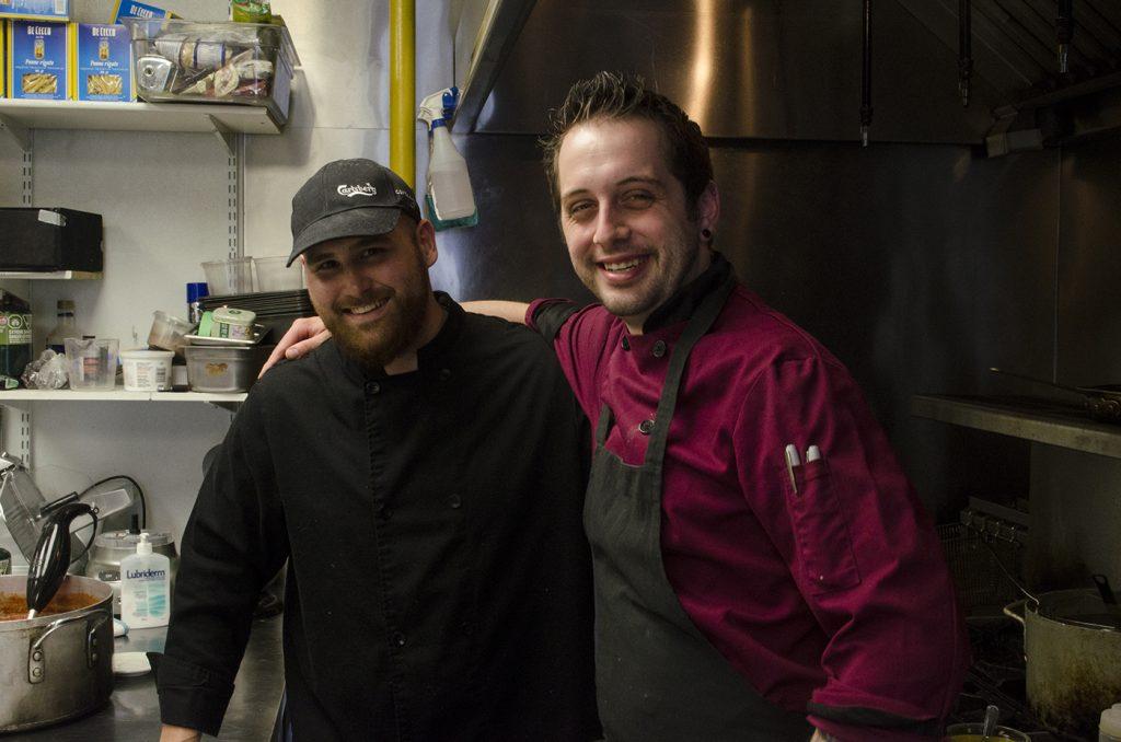 Austin Wellwood and Chef Josh Deneau of Mauro's on Erie
