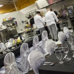 Bob Blumer cooked a dinner for an intimate crowd at Williams Food Equipment