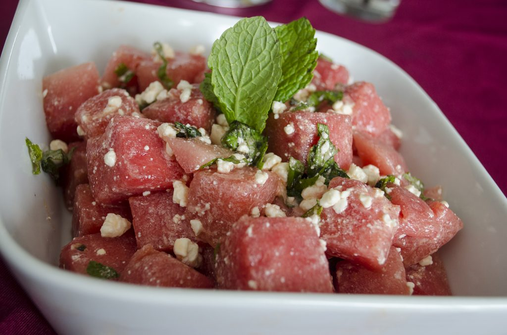 Watermelon Mint Salad from Honey Badger Bistro