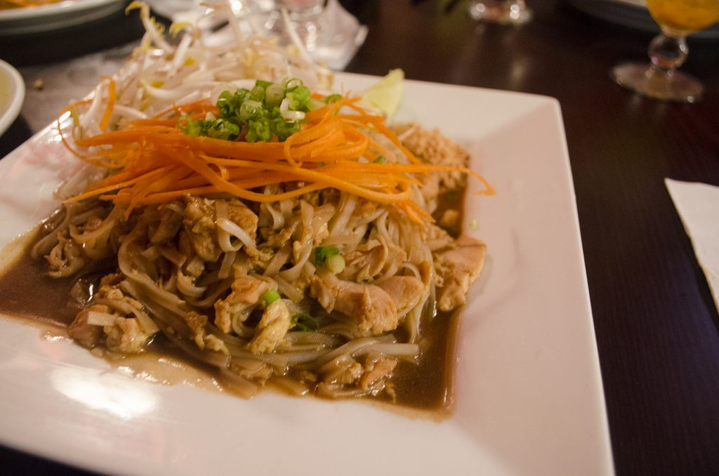 Pad Thai is being offered on the Thai Palace Eat Your City menu