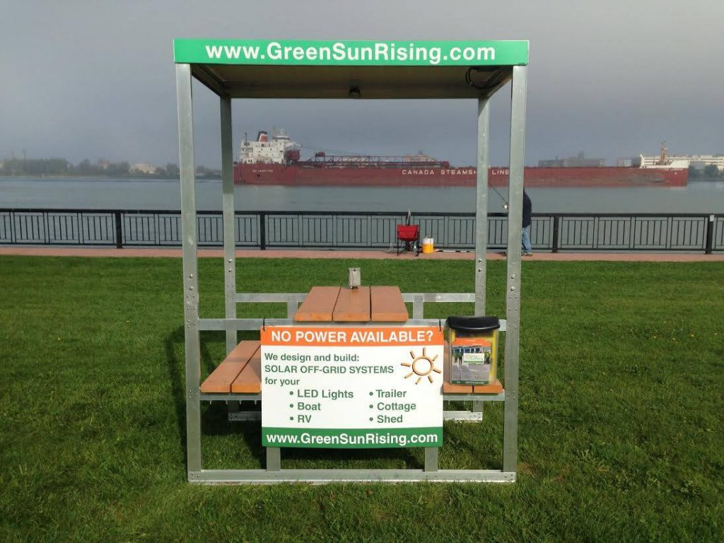 WCBF charging station courtesy of Green Sun Rising