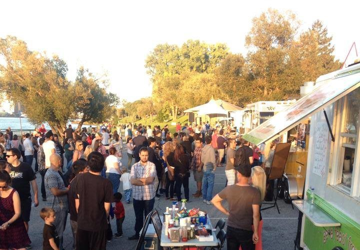 Crowds flocked to the Truckin' Good Food Rally in September 2014