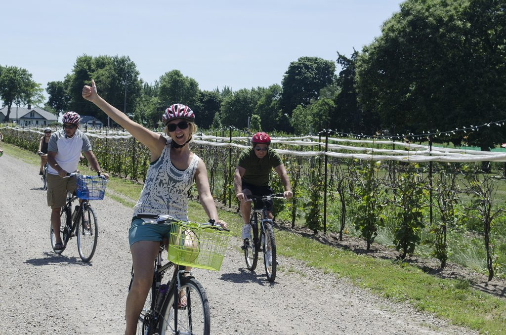 Thumbs up for the Wine Trail Ride Cycling Tours!