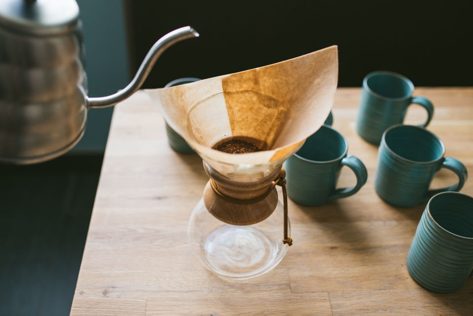 Handmade pottery for your coffee, from Anchor Coffee House.