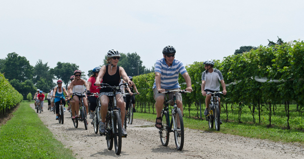 Get on your bikes and ride.....and have some wine and beer