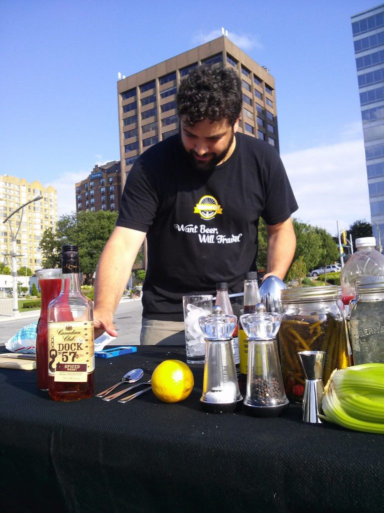 Our Adriano crafting up a cocktail for CTV Windsor