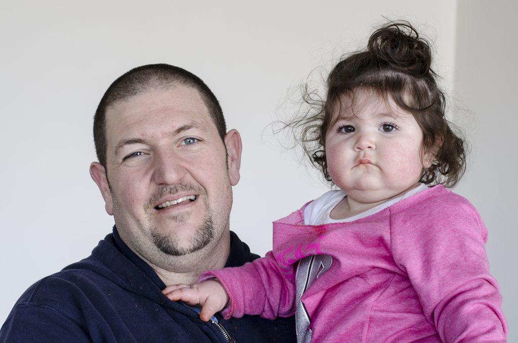 Marco Malizia and his daughter