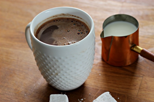 Hot chocolate on a cold day.