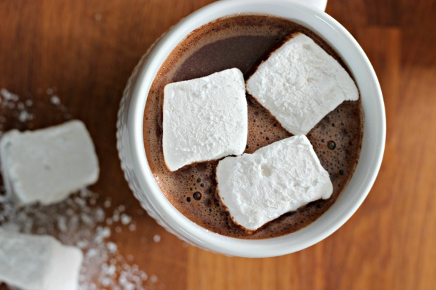 Hot cocoa and marshmallows...perfection.