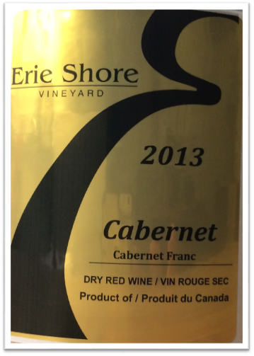 Vintage 2013 Cabernet from Erie Shore Vineyard