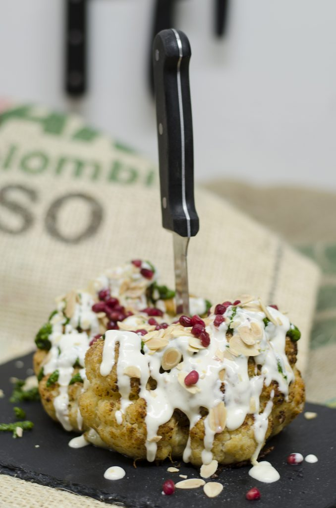 Stuffed Roasted Cauliflower Head
