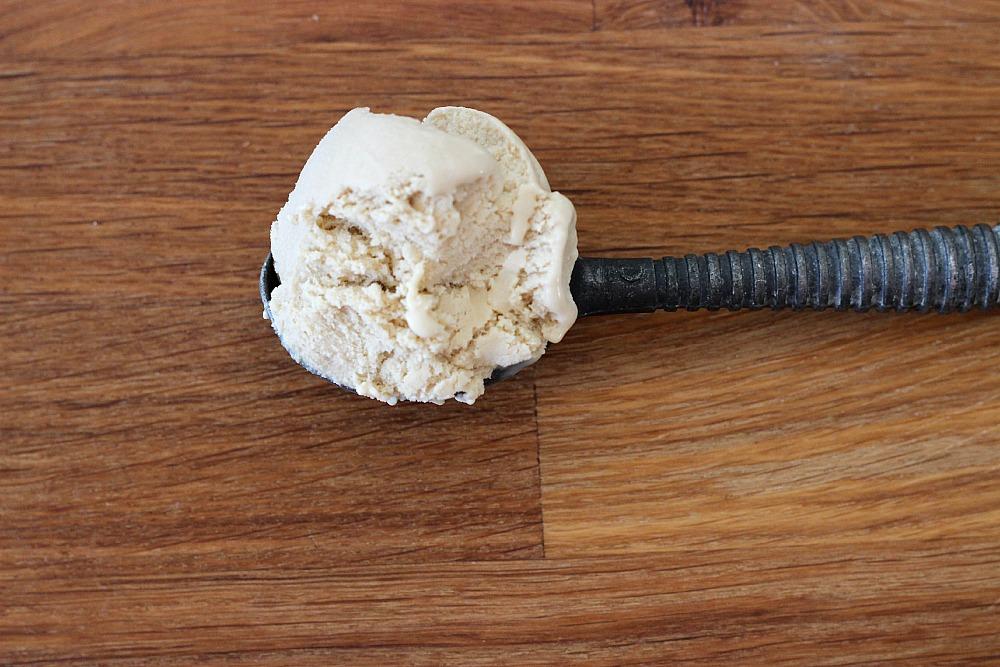 Homemade espresso ice cream.