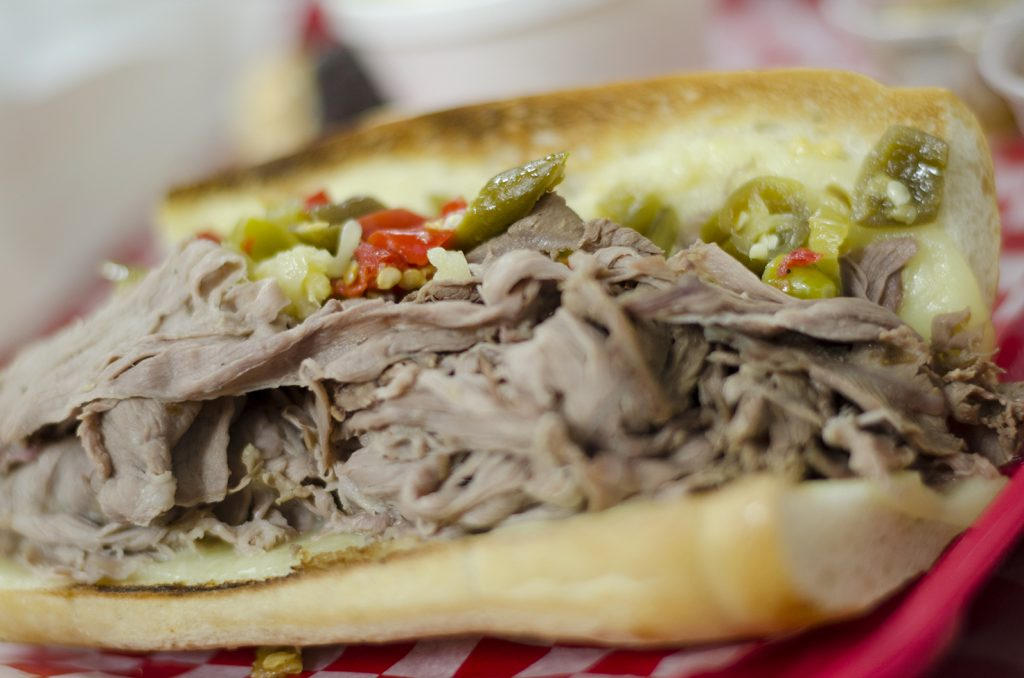 Chicago-style Italian Beef sandwich from Chatham Street Deli