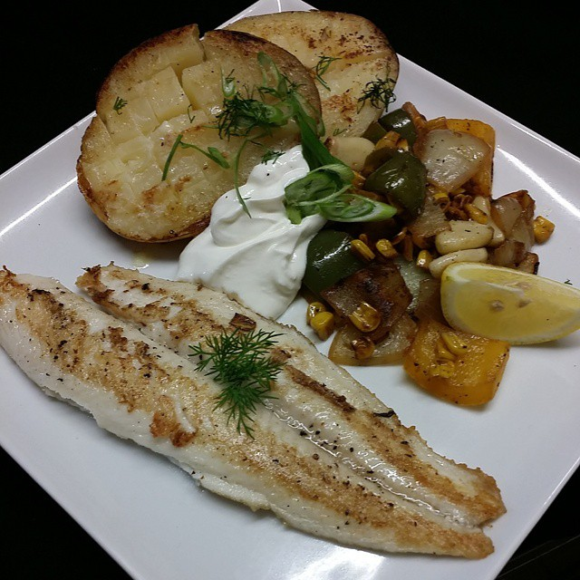 Walkerville Tavern's grilled fish special