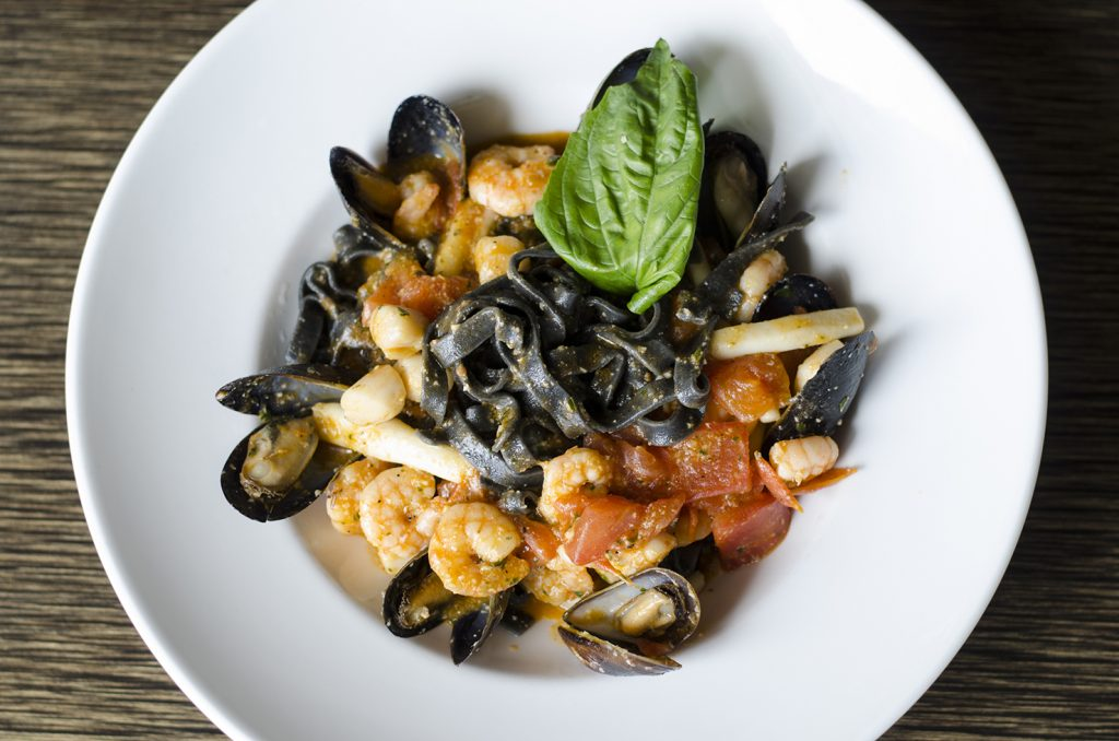 Italians love their pastas made with squid ink.