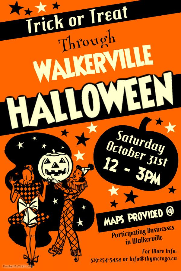Trick or treat through the businesses in Walkerville!
