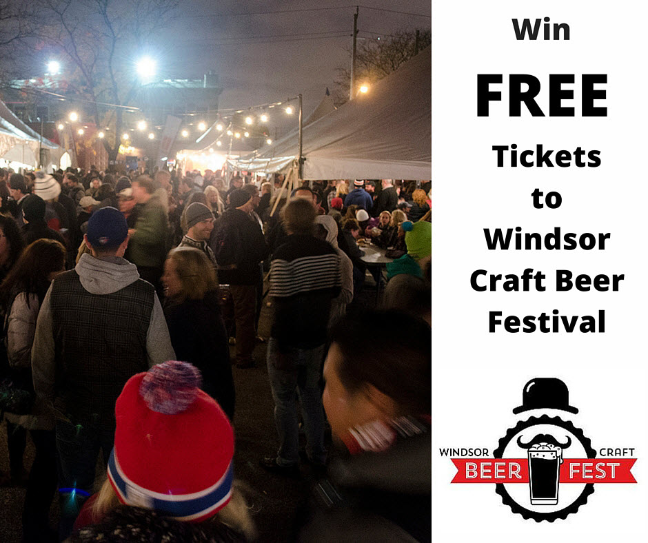 Win tickets to the Windsor Craft Beer Festival