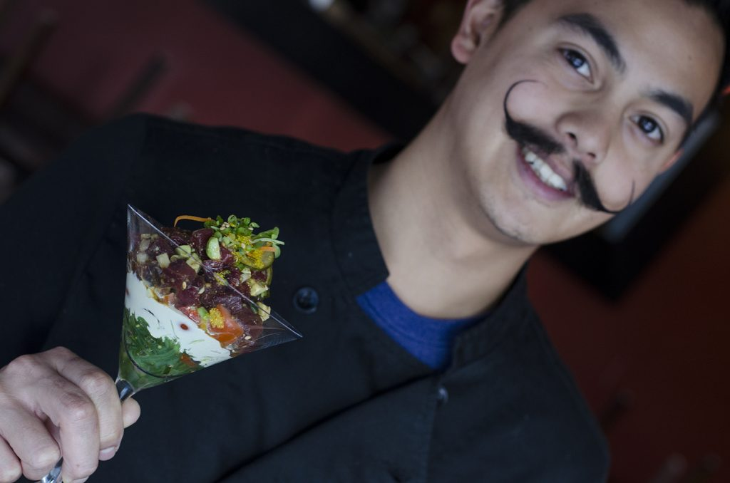 Our fine, mustachio'd friend, chef John Alvarez.