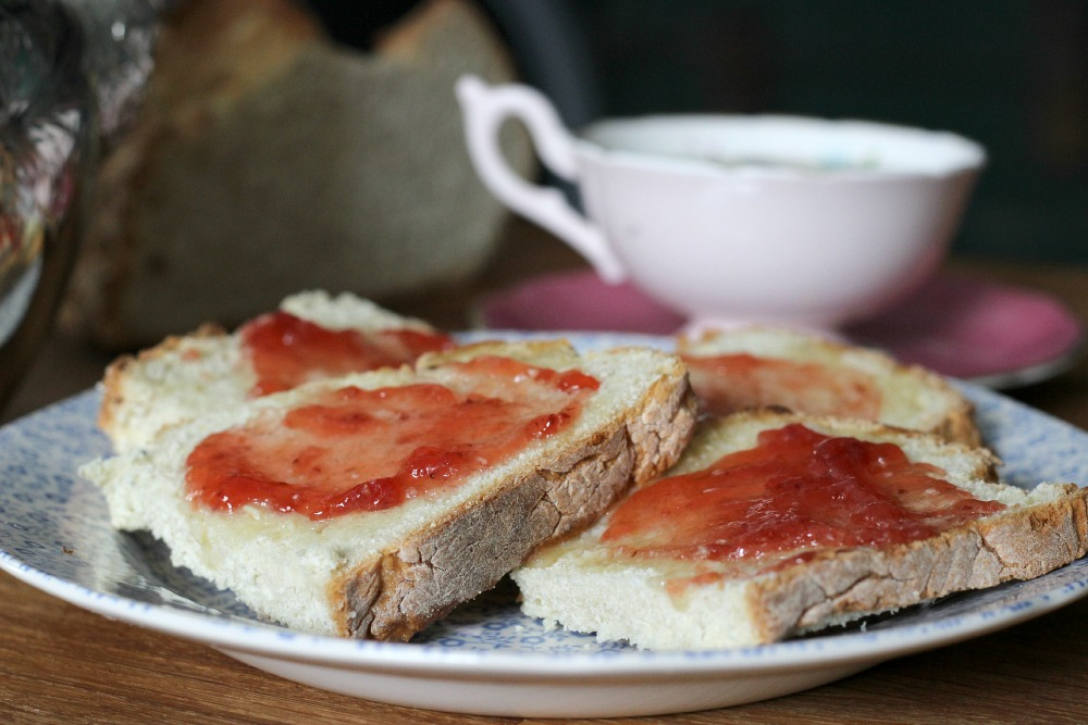 Nothing like a nice slice of bread with jam in the morning