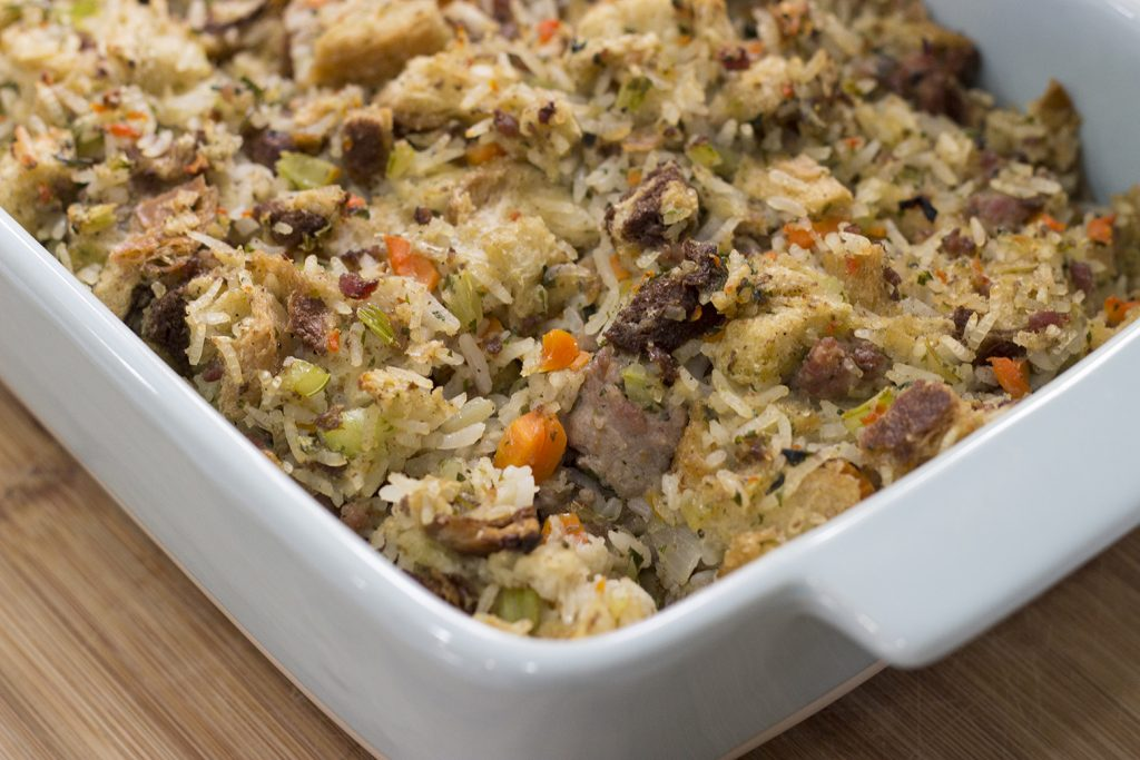 Apple Butter Sage Sausage Stuffing